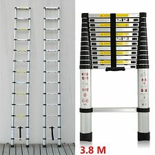 3.8M Multi-Purpose Aluminium Telescopic Ladder Extension Extendable Power Steps