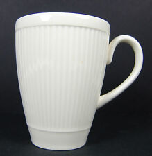 2 Windsor Wedgwood Mugs Cups Ribbed Made in England Ivory Cream