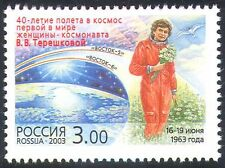Russia 2003 Space/Tereshkova/Astronaut/Transport/People 1v (n28536)