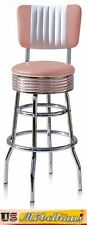 BS-29-CB Rose Bel Air Barhocker Diner Theke Bar Stuhl Fifties Amerika Style USA