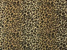 "BALLARD DESIGNS LEO BROWN LEOPARD ANIMAL PRINT 100% LINEN FABRIC 1.75 YARD 54""W"