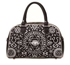 Banned Pentagram Step Aside Handbag Occult Symbols illuminati Eye Bag Goth Black