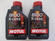 MOTUL OLIO MOTORE AUTO 8100 X-CESS 5W-40 100% SINTETICO 2 LT per VOLKSWAGEN
