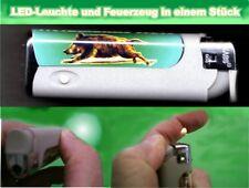 LED-Leuchte Feuerzeug mit Wild Jagd Motiv Wildschwein