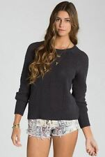 2015 NWT WOMENS BILLABONG LOVE ME KNOT PULLOVER SWEATER $60 M off black knit