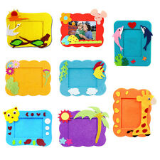Creative Kids Children DIY Photo Frame Hand Crafts Kits Puzzle Educational Toys