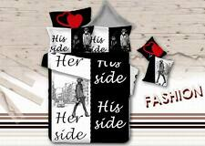 3D Printing Letter Figure Pattern Bedding Set His Her Side Cover Set pillowcases