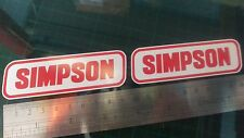 Simpson Decal Sticker x2 Moto GP laptop helmet bike car scooter Red on White