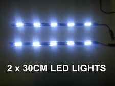 2 X 30CM LED DAYTIME RUNNING STRIP 6000K LIGHT DRL VW GOLF MK5 PASSAT B6