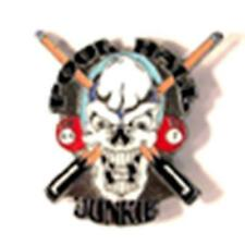 POOL HALL JUNKIE HAT OR JACKET PIN pin347 new jacket lapel metal billards skull