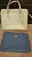Tumi  Slim Women's  Laptop Leather Briefcase Gray (Taupe?), Great condition!