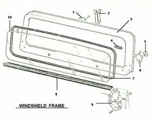 WINDSHIELD FRAME COWL & GLASS SEALS 1997-2006 JEEP WRANGLER TJ - BRAND NEW