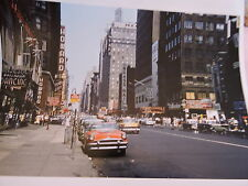 1956 7th Avenue N. to W. St TAXI New York City NYC Coca Cola Color Photo 8 x 10