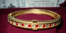 Camrose & Kross Jacqueline Kennedy Ruby Hinged Bangle Bracelet
