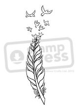 A7 'Bird Feather' Unmounted Rubber Stamp (SP00007893)
