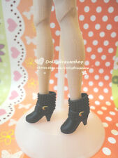 Doll Shoes~Fashion Black Ankle boot 2pairs-LIV/Poppy Parker/Azone Pure Neemo