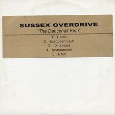 "SUSSEX OVERDRIVE ""THE DANCEHALL KING"" ULTRA RARE CD MAXI / BREAKBEAT ELECTRONIC"