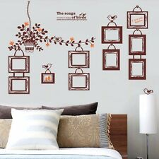 Flower Vine Photo Frame Wall Stickers Removable Mural Decal Room Decor Vinyl Art