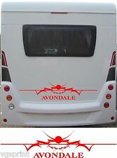 AVONDALE LARGE MOTORHOME/CARAVAN REAR VINYL GRAPHICS DECALS CHOICE OF COLOURS #1