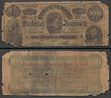 $100 Confederate=Reprint for Advertising=Feb. 17, 1864=Vg