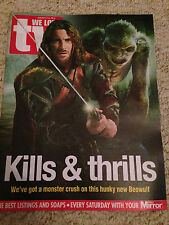 WE LOVE TV Magazine January 2016 BEOWULF Kieran Bew HANS MATHESON James Norton