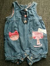 girl NEXT 3-6 months denim outfit summer winter body dungarees