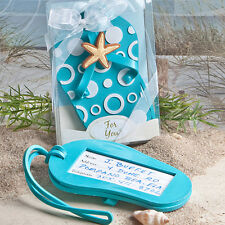 30 -  Flip Flop Luggage Tag Beach Wedding Favors - Free US Shipping