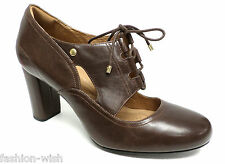 Clarks Indigo Lace Front Brown Pumps Size 10 Shoes Heels