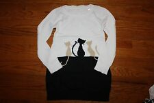 NWT Gymboree City Kitty Size 6 Black and White Kitties Sweater Dress