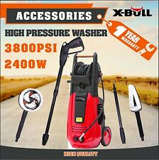 X-BULL High Pressure Water Cleaner 3800 PSI Washer Electric Pump Hose Gurney