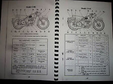 BSA C10L & C11G 1954 MAINTAINANCE & INSTUCTION BOOK MC.639-20 BH10