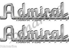 Admiral Boats vintage decals.