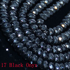 """2x4mm Mulitcolor Faceted Agate roundlle Gemstone Loose Beads 16"""""""