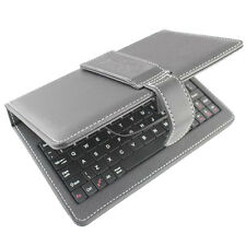"""Synthetic Leather Keyboard Case Cover For 7"""" Inch Android Tablet support MiniUSB"""