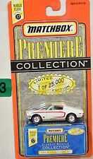 MATCHBOX PREMIERE COLLECTION SERIES 17 '68 MUSTANG COBRA JET WHITE