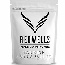 180 Taurine Capsules - 1500mg Per Serving - Best Quality Guaranteed!