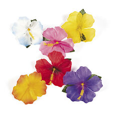 24 Luau Tropical HAWAIIAN SILK Hibiscus Flowers Decorations POOL BEACH PARTY