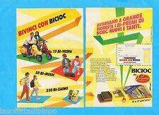 TOP987-PUBBLICITA'/ADVERTISING-1987- LAZZARONI - BICIOC CONCORSO A PREMI-2 fogli