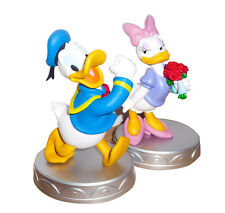 Very Cute COUPLE 2 Figures 5'' DONALD and DAISY DUCK Statues Official DISNEY NEW