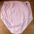 Ladies size 12-14 Crinkle Full Briefs Knickers Panties Cotton & Lycra Pink
