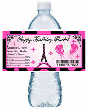 20 EIFFEL TOWER PARIS THEME BIRTHDAY PARTY FAVORS ~ WATER BOTTLE LABELS