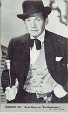 Gene Barry Bat Masterson #201 Vintage Western Penny Arcade Card