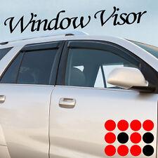 07-12 DODGE CALIBER SIDE WINDOW VISOR SUN SHADE RAIN GUARD WIND DEFLECTOR 4PCS