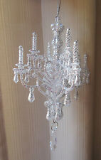 NEW Shabby Chandelier Christmas Ornament Sparkling Silver Victorian Tree