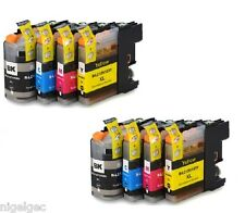 BROTHER 2 SETS OF 4 LC123 Compatible Ink Cartridge For MFC J4610DW J470DW J4920D