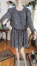 MICHAEL KORS ANIMAL PRINT SHEER LONG SLEEVE DRESS SIZE XL NWT MSRP 150.00