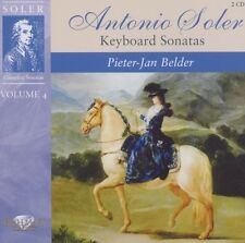 PIETER-JAN BELDER - SOLER: KEYBOARD SONATAS VOL.4 2 CD NEU SOLER,PADRE ANTONIO