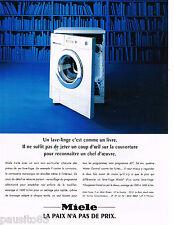 PUBLICITE ADVERTISING 065  1995  MIELE   lave linge machine à laver