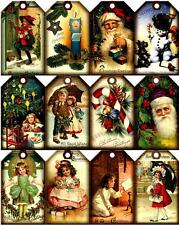 12 CHRISTMAS VICTORIAN CHILDREN - THICK 155 # PAPER CRAFT CARD TAG SCRAPBOOK