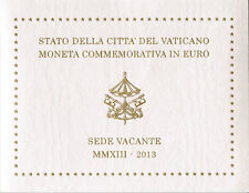 Vaticano VATICAN 2 euro 2013 moneta commemorativa Besuch vacante FILATELICA BLISTER
